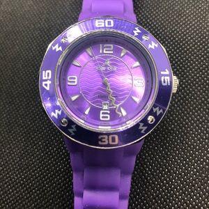 Adee Kaye purple rubber watch